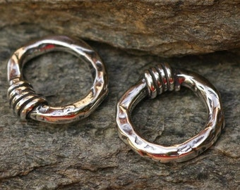 Artisan 15mm Link with Wrap in Sterling Silver, One Link,  L-12, S/1