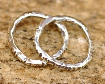 Notched Links in Sterling Silver L-101