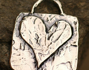 Artisan Listen to Your Heart Pendant in Sterling Silver, AD-188