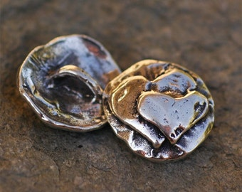 Artisan Double Heart Too Sterling Silver Button Clasp