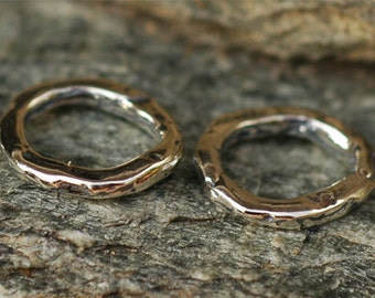 TWO Artisan Closed Small Links in Sterling Silver L-248/2
