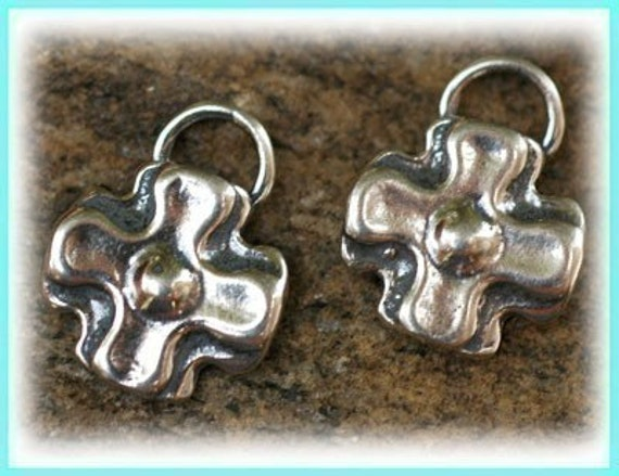 Two Southwest Cross Sterling Silver Charms