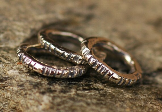 Artisan Links in Sterling Silver,  Notched Links, L-202
