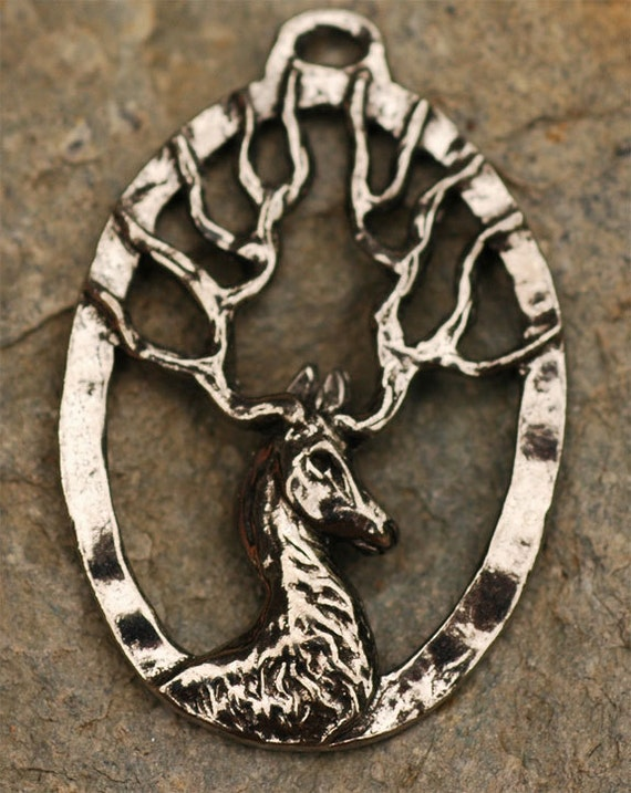Green Girl Studios Pewter Deer Pendant