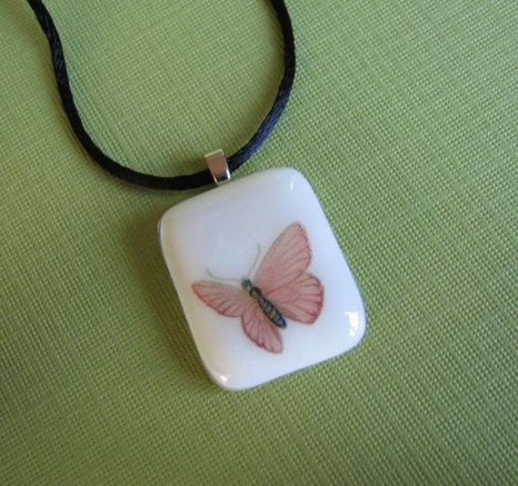 Fused Glass Pendant- Butterfly