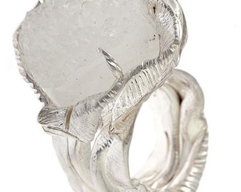 Ice and Storm Cocktail Ring