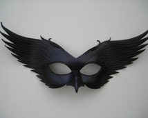 Leather Raven mask: original handcrafted leather mask Halloween Mardi gras Steampunk Masquerade Pagan Samhain Burning man mask