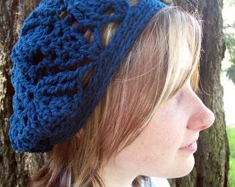 Navy blue wool trilobite tam