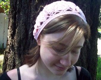 Baby pink wool trilobite tam beret