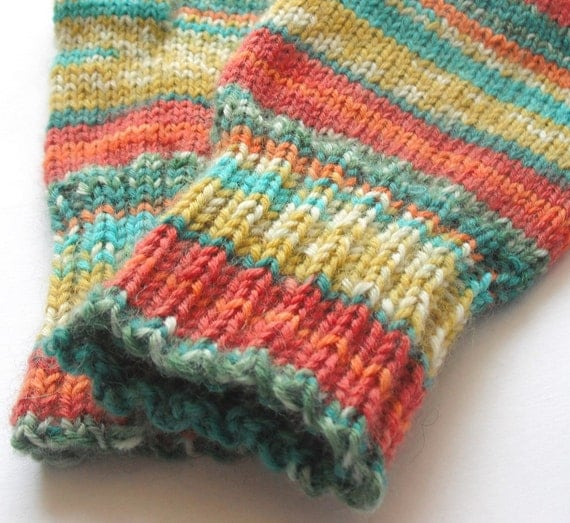 wool handknit fingerless gloves
