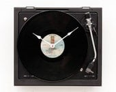 Recycled record player clock