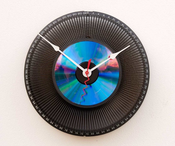 Clock made from a recycled Kodak Slide Carousel