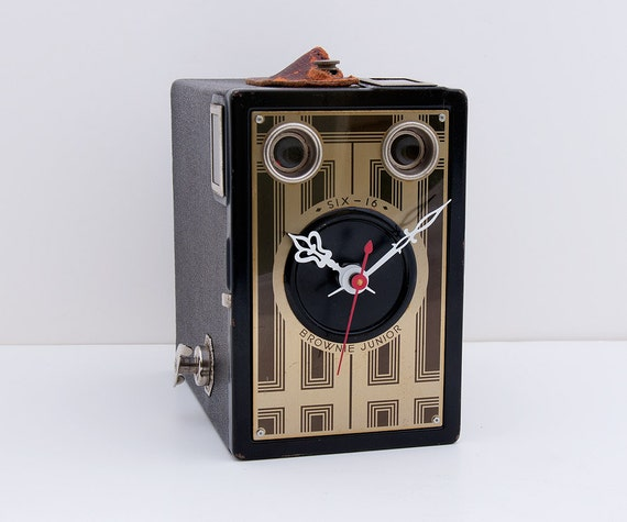 Recycled Kodak Brownie Camera Clock
