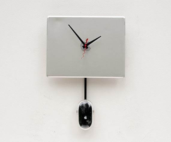 Recycled Apple Powerbook laptop Clock