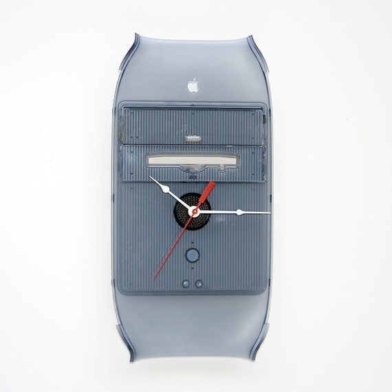 Clock made from Apple G4 computer front cover
