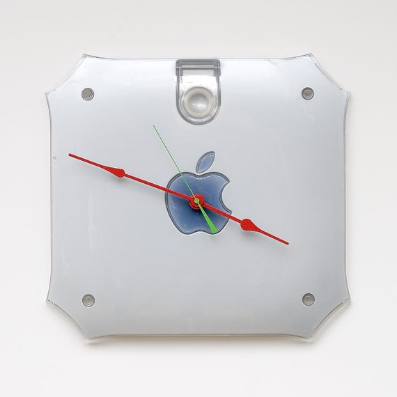 Clock made from an Apple G4 side cover