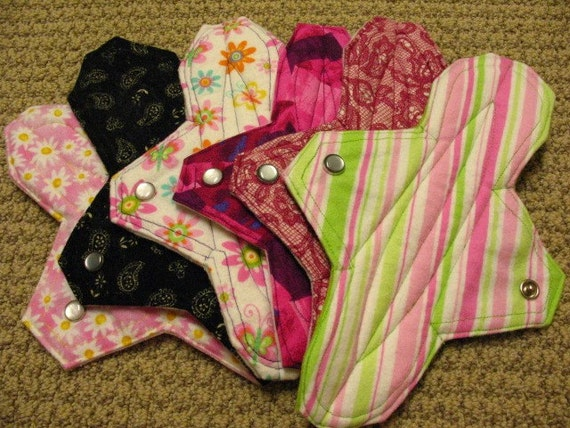 Goods 4 Girls - Five Reusable Cloth Menstrual Pad Donated on YOUR Behalf - FREE SHIPPING