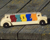 Wooden Personalized Name Car