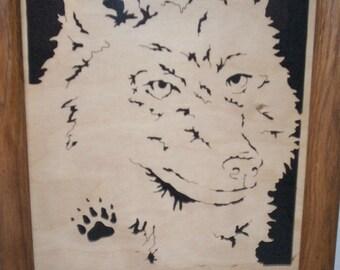 Scroll Saw Art Wolf