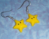 EARRINGS Yellow Stars - Nintendo Super Mario World