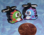 CUFFLINKS Bub and Bob from Bubble Bobble