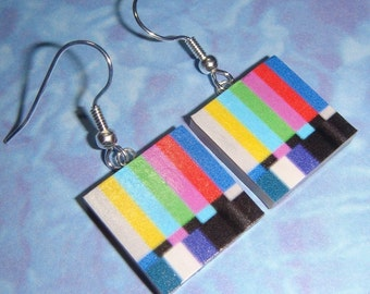 TV Test Pattern Earrings