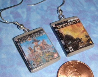 Sony Playstation 3 Game Box Set of Earrings - CHOOSE ANY 2 games you want for your set