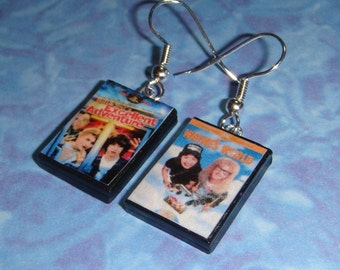 Miniature DVD Earrings - pick any dvds for your set