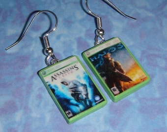 Xbox 360 Game Box Set of Earrings - CHOOSE ANY 2 games for your set