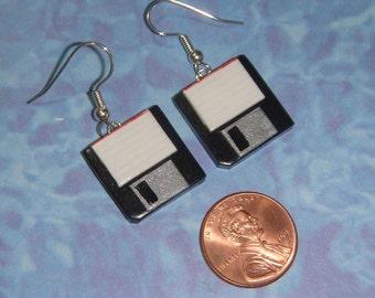 Computer Floppy Disk Earrings
