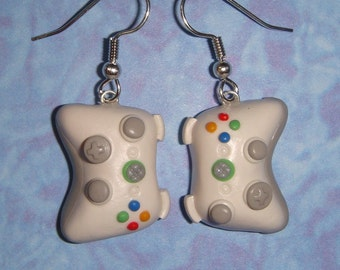 Xbox 360 Controller Earrings - pick any color (white, black, pink, etc.)