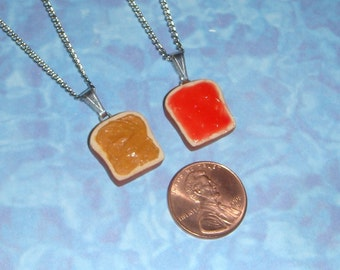 Peanut Butter and Jelly Best Friends Necklaces - set of 2 necklaces