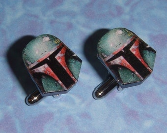 CUFFLINKS Boba Fett Bounty Hunter Star Wars