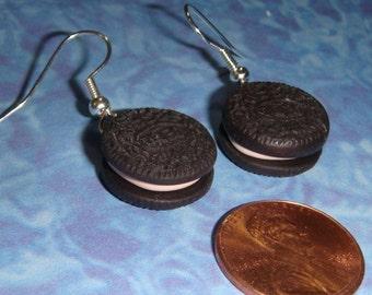 EARRINGS Chocolate Creme Sandwich Cookies