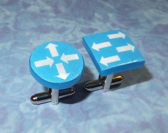 CUFFLINKS Computer Router and Switch Symbols