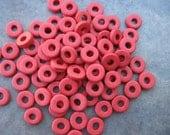 25 Red 8mm Round Mykonos Greek Ceramic Washer Spacers (25)