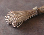 Shop Sale..10 Bali Sterling Silver 26 gauge Headpins with Ball - 50mm LOW SHIPPING
