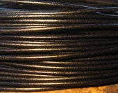 Shop Sale..Greek Round Leather Cord 1.8mm BLACK 18 feet - 6 yards - Low Shipping