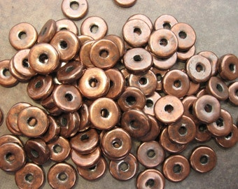 25 Mykonos Greek Ceramic  Beads Bronze 8mm Spacers