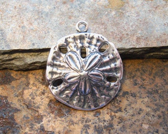 Trinity Brass 2 Antique Silver Sand Dollars -  LOW SHIPPING