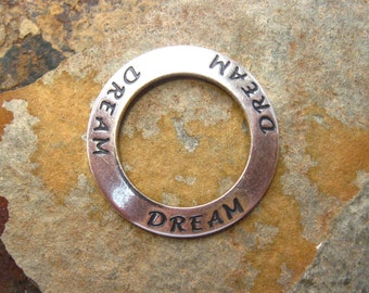 1 Trinity Brass  Antique Silver Dream Affirmation Ring - Links - Charm