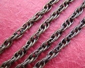 5 feet Antique Bronze Double Cross 0 Shape twised Rope Chains With Texture LN064