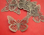 20pcs 38x28mm Antique Bronze Filigree Butterfly Wrap Charm CWE020