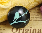 Glass Cabochon, 8mm 10mm 12mm 14mm 16mm 20mm 25mm 30mm Round Handmade photo glass Cabochons  - Birds Collection BCH701H