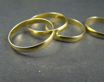 50% OFF SALE - 20pcs 18mm Antique Raw Brass Smooth Rings RI023