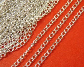 5 Feet Silver Plated Twisted Link Chains LN102