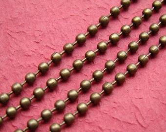10 feet Antique Bronze Ball Chains LN060