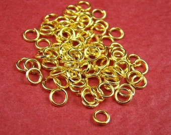 50% OFF SALE - 500pcs 4mm Gold Plated Smooth Jumprings JP802