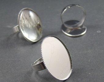 10pcs Nickel Free Adjustable 18X25MM Ring Base RI422