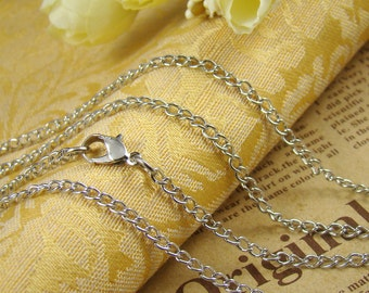 3pcs Silver Finished  Twisted Chains LN910